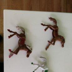 Figuras de Goma y PVC: COMANSI JECSAN BRUBER REAMSA PECH LOTE D TRES CABALLOS LAFREDO GRANDES AÑOS 60. Lote 253797945