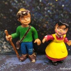Figuras de Goma y PVC: LOTE 2 FIGURAS PVC SERIE HEIDI PEDRO HEIDI COMICS SPAIN VINTAGE AÑOS 80 LEER DESCRIPCION. Lote 253972150