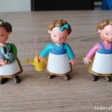 Figuras de Goma y PVC: MUÑECAS LAS TRES MELLIZAS DE CROMOSOMA 1999 EN PERFECTO ESTADO. Lote 254026005