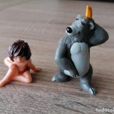 Figuras de Goma y PVC: MUÑECOS MONGLI Y BALOO EL LIBRO DE LA SELVA BULLYLAND DISNEY PERFECTAS CONDICIONES. Lote 254027775