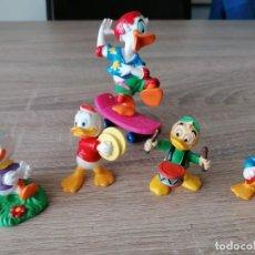 Figuras de Goma y PVC: MUÑECOS FAMILIA DONALD BULLYLAND DISNEY MADE IN GERMANY PERFECTO ESTADO. Lote 254032300