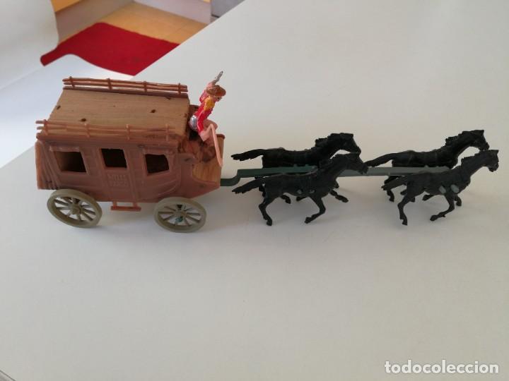 Figuras de Goma y PVC: Jecsan Bruber lafredo pech reamsa carreta diligencia Comansi años 60 - 70 caravana - Foto 4 - 254068395