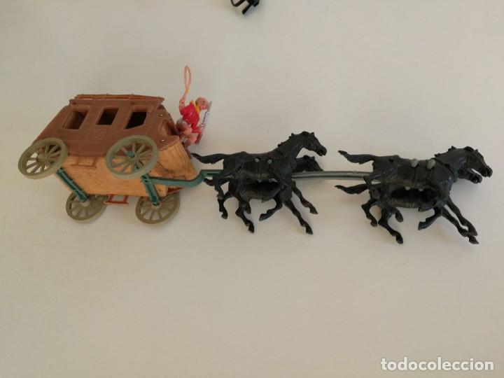 Figuras de Goma y PVC: Jecsan Bruber lafredo pech reamsa carreta diligencia Comansi años 60 - 70 caravana - Foto 5 - 254068395