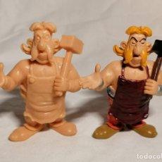 Figuras de Goma y PVC: COMICS SPAIN COLECCION ASTERIX HERRERO SIN PINTAR Y PINTADA. Lote 254286020