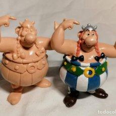 Figuras de Goma y PVC: COMICS SPAIN COLECCION ASTERIX OBELIX SIN PINTAR Y PINTADA. Lote 254286165
