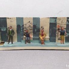 Figuras de Goma y PVC: RAREZA. PERSONAJES PUBLICO DE CARRERAS CON CARTÓN ORIGINAL. Lote 254360170