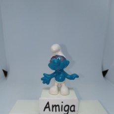 Figuras de Goma y PVC: PITUFO - CON GAFAS ROJAS - PEYO - G.GERMANY. Lote 254436845
