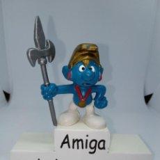 Figuras de Goma y PVC: PITUFO SOLDADO - PEYO - SCHLEICH. Lote 254444535