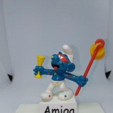 Figuras de Goma y PVC: PITUFO EN CARNAVAL - PEYO - SCHLEICH. Lote 254445390