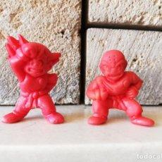 Figuras de Goma y PVC: SON GOKU Y KRILIN DUNKIN DRAGON BALL BOLA DE DRAGON DRAC KAUGUMMI FIGUREN PATATAS CRECS. Lote 254446460