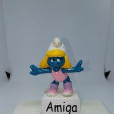 Figuras de Goma y PVC: PITUFINA - AEROBIC - ZUMBA - PEYO - SCHLEICH. Lote 254446505