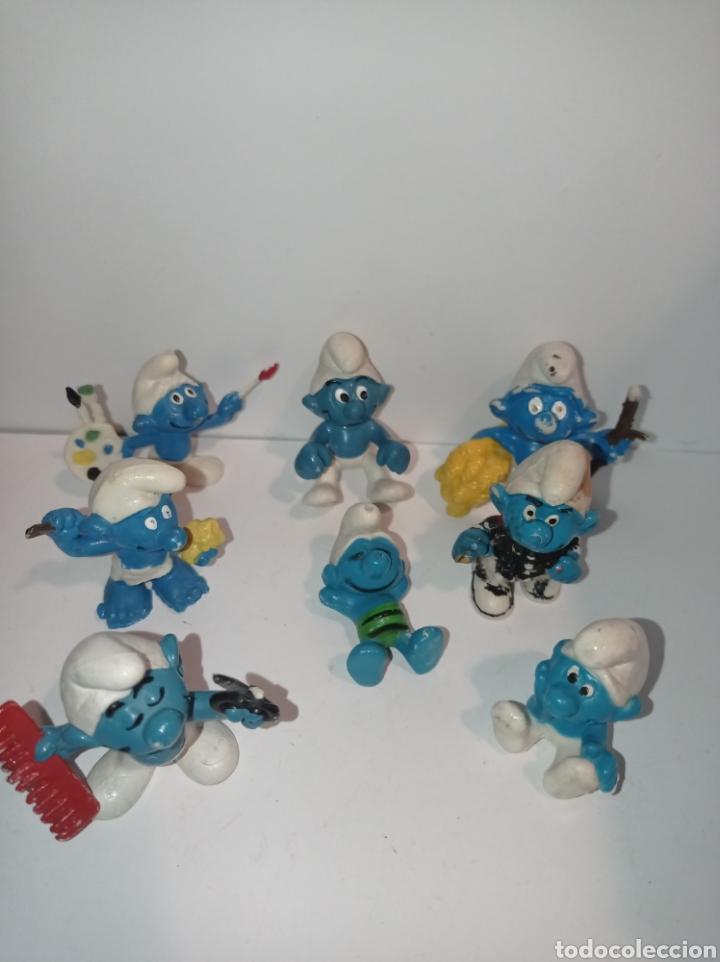 Figuras de Goma y PVC: Lote de pitufos 04. Sin marcar - Foto 2 - 254453360