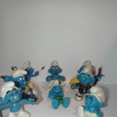 Figuras de Goma y PVC: LOTE DE PITUFOS 04. SIN MARCAR. Lote 254453360