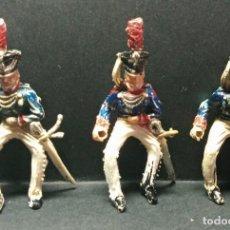 Figuras de Goma y PVC: 3 FIGURAS DE LANCEROS LAFREDO. Lote 254460735