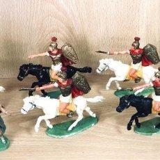 Figuras de Goma y PVC: GRANDES BATALLAS DEL MUNDO. ROMANOS CONTRA CARTAGINESES. ROMANOS. GBM. AÑOS 60. BATALLA DE ZAMA. Lote 254534350