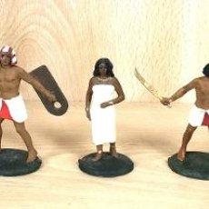 Figurines en Caoutchouc et PVC: LOTE DE 7 FIGURAS ANTIGUAS EGIPCIAS PLASTICO. Lote 254541450