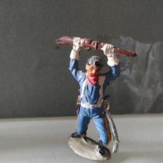 Figuras de Goma y PVC: VAQUEROS INDIOS LAFREDO AÑOS 50 GOMA DIFÍCIL PECH EXPLORADORES FEDERAL L. Lote 254603665