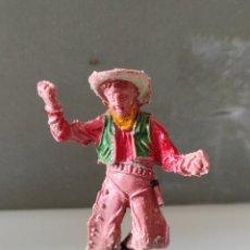 Figuras de Goma y PVC: VAQUEROS INDIOS LAFREDO PLÁSTICO L PECH EXPLORADORES. Lote 254604355