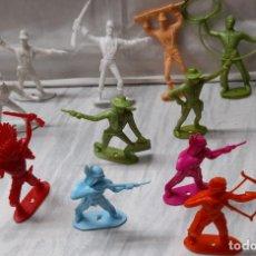 Figurines en Caoutchouc et PVC: LOTE DE 11 FIGURAS DE PLASTICO - COMANSI - INDIOS VAQUEROS COFEDERADOS. Lote 254676400