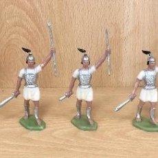 Figurines en Caoutchouc et PVC: GRANDES BATALLAS DEL MUNDO. ROMANOS CONTRA CARTAGINESES. CARTAGINESES. GBM. AÑOS 60. BATALLA DE ZAMA. Lote 254719560