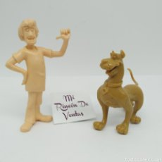 Figuras de Goma y PVC: ¡ÚNICAS! SHAGGY Y SCOOBY DOO DE COMANSI, RAREZA DE TALLER SIN PINTAR. Lote 254794175