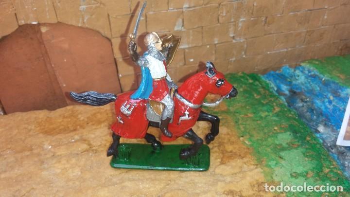 Figuras de Goma y PVC: Guerrero mediaval con caballo de goma de jecsan - Foto 2 - 254927570