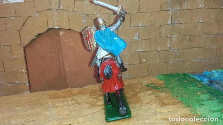 Figuras de Goma y PVC: Guerrero mediaval con caballo de goma de jecsan - Foto 3 - 254927570