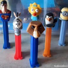 Dispensador Pez: LOTE CON 6 DISPENSADORES PEZ - SUPERMAN - MAGIE - LEON CEBRA Y PINGUINO + OTRO - NO SUELTOS. Lote 255342690