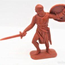 Figure di Gomma e PVC: ANTIGUA FIGURA EN PLÁSTICO. SERIE CRUZADOS DE JECSAN. AÑOS 70.. Lote 255379605