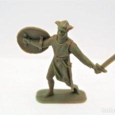 Figure di Gomma e PVC: ANTIGUA FIGURA EN PLÁSTICO. SERIE CRUZADOS DE JECSAN. AÑOS 70.. Lote 255380765