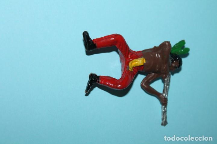 Figuras de Goma y PVC: FIGURA DEL OESTE. INDIO A CABALLO, DISPARANDO. PINTURA ORIGINAL. AÑOS 60. COMANSI. - Foto 7 - 255451745