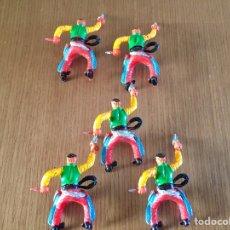 Figuras de Goma y PVC: LOTE DE VAQUEROS. M. SOTORRES.. Lote 255519040