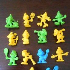 Figuras de Goma y PVC: DUNKIN LOTE 14 PITUFOS PEYO 1983 PHOSKITOS PITUFO SMARF SCHTROUMPF PREMIUM FIGURAS FIGURE. Lote 255546890