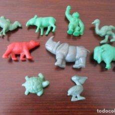 Figuras de Goma y PVC: DUNKIN LOTE 9 ANIMALES MATUTANO ORZOWEI AFRICA ANIMALS PREMIUM PASTELITOS GORILA BISONTE TAPIR OSO. Lote 255547405
