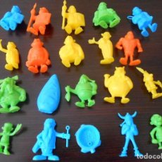 Figuras de Goma y PVC: DUNKIN SUPER LOTE 20 FIGURAS ASTERIX OBELIX ORIGINALES UDERZO GALOS FIGURES PANRICO PHOSKITOS ROMA. Lote 255548460
