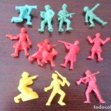 Figuras de Goma y PVC: DUNKIN LOTE 11 SOLDADOS DEL MUNDO RUSOS URSS AMERICANOS US ARMY SOLDIER PHOSKITOS CHINA PANRICO. Lote 255549065