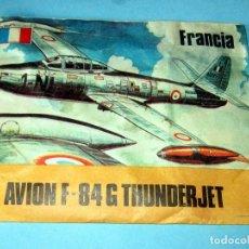 Figuras de Goma y PVC: AVION F-84 G THUNDERJET- FRANCIA MAPRA-SOBRE TIPO MONTAPLES SIN ABRIR. Lote 255566820