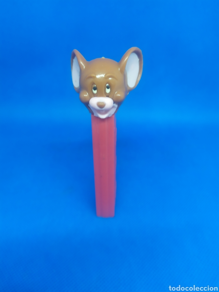 DISPENSADOR PEZ RATÓN JERRY MADE IN SPAIN 1980 DE TOM Y JERRY SIN PIE NO FEET US PATENT 3.942.683 (Juguetes - Figuras de Gomas y Pvc - Dispensador Pez)