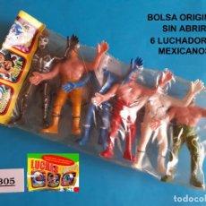 Figuras de Goma y PVC: REAMSA JECSAN COMANSI PECH - LOTE 305 LUCHADORES MEXICANOS - VINTAGE BOOTLEG. Lote 256038445