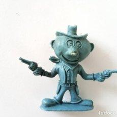 Figuras de Goma y PVC: FIGURA VAQUERO HUMORÍSTICO AÑOS 60. Lote 256053860