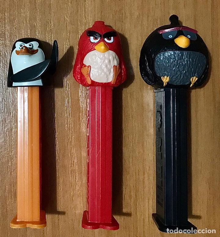 LOTE 3 DISPENSADOR PEZ CARAMELOS ANGRY BIRDS MADAGASCAR DIBUJOS ANIMADOS JUEGO PELICULAS INFANTIL (Juguetes - Figuras de Gomas y Pvc - Dispensador Pez)