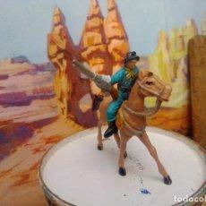 Figuras de Goma y PVC: SOLDADO Y CABALLO DEL MINI OESTE DE COMANSI. Lote 256157350