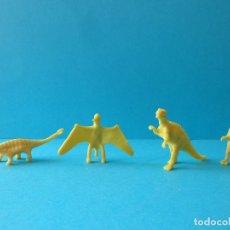 Figuras de Goma y PVC: LOTE DE DINOSAURIOS AMARILLOS DUNKIN - PREMIUM. Lote 257316950