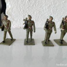 Figuras de Goma y PVC: COLECCIÓN DE 4 SOLDADOS DE GOMA ANTIGUOS EJERCITO ESPAÑOL REAMSA GORMASA. Lote 257417150