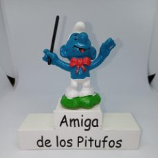 Figuras de Goma y PVC: PITUFO DIRECTOR DE ORQUESTA PAJARITA ROJA - SCHLEICH. Lote 257535595