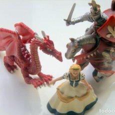 Figuras de Borracha e PVC: SANT JORDI, DRAGON Y PRINCESA - LOTE 4 FIGURITAS SCHLEICH ETC. Lote 257559715