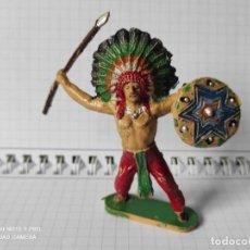 Figuras de Goma y PVC: FIGURAS COMANSI PRIMERA EPOCA PVC OESTE INDIOS VAQUEROS. Lote 257586285