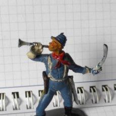 Figuras de Goma y PVC: FIGURA EN GOMA PECH LAFREDO SOLDADO AMERICANO NORDISTAS OESTE INDIOS VAQUEROS. Lote 257587220