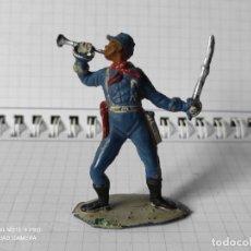 Figuras de Borracha e PVC: FIGURA EN GOMA PECH LAFREDO SOLDADO AMERICANO NORDISTAS OESTE INDIOS VAQUEROS. Lote 257587560