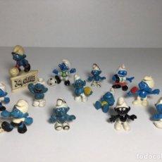 Figuras de Goma y PVC: LOTE FIGURAS PITUFOS SMURFS SIN MARCA NO TOXICO ORIGINALES AÑOS 80 Nº1. Lote 257712230